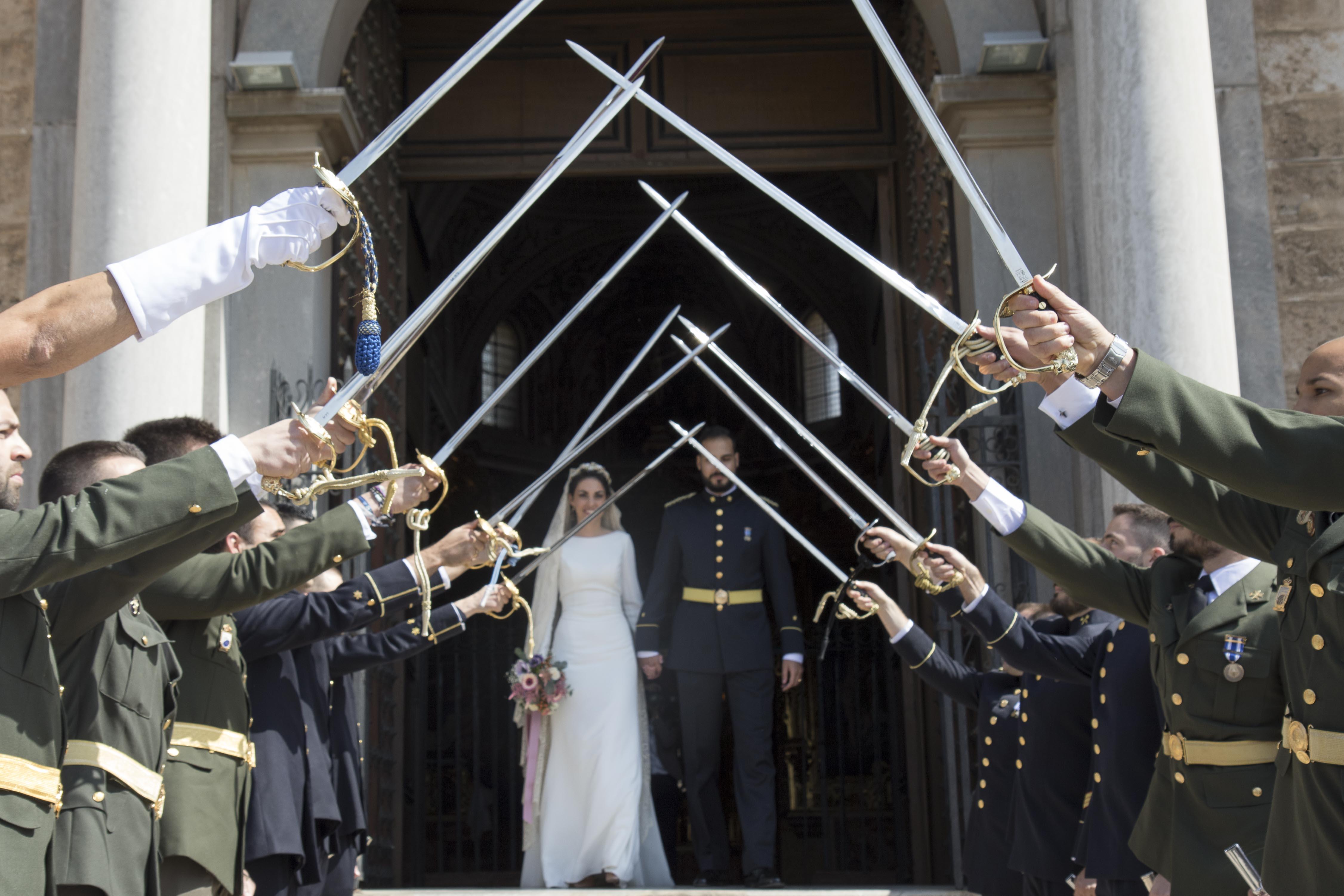 fotografia de boda militar